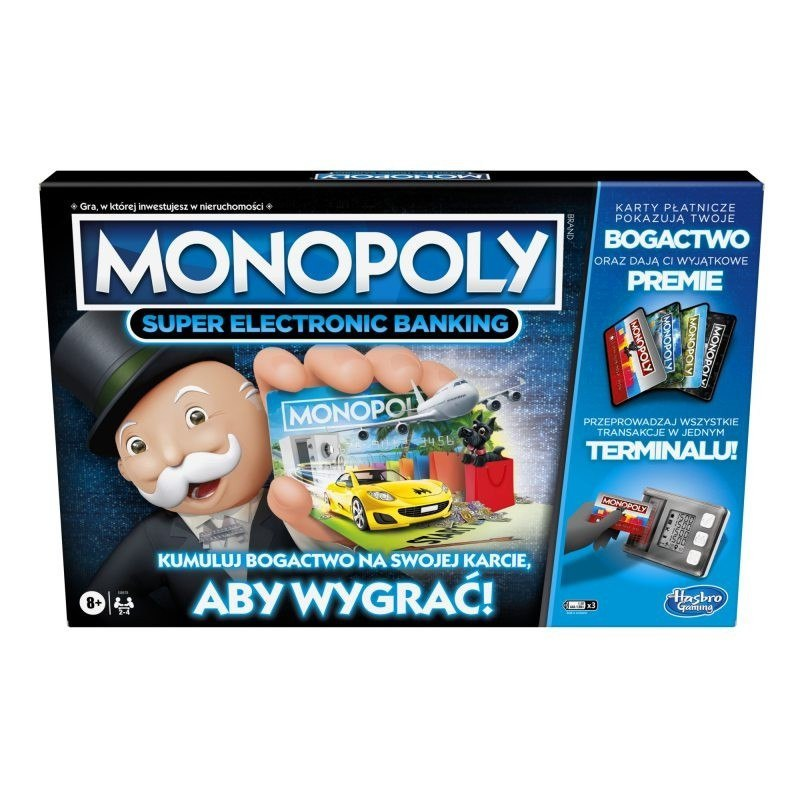 Hasbro Gra Monopoly Super Electronic Banking