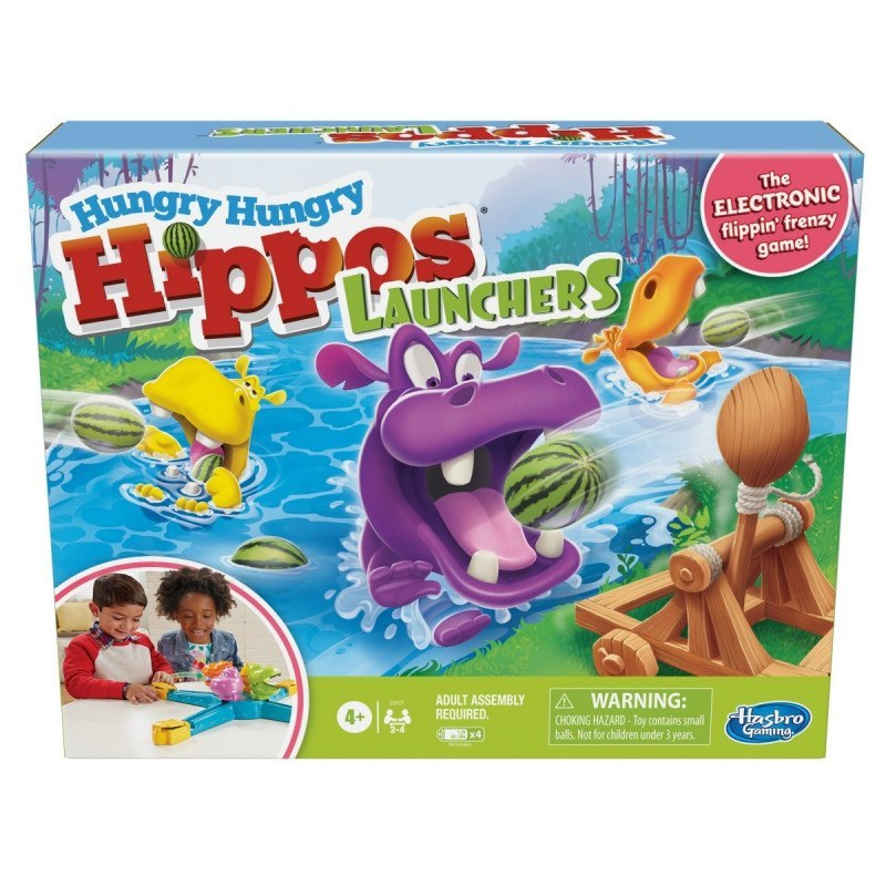 Hasbro Gra Hungry Hungry Hippos Launchers